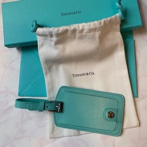 Tiffany & Co Leather Luggage Tag NWB Authentic